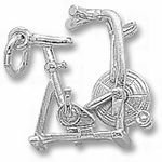 Rembrandt Charms Exercise Bike Charm - Sterling Silver