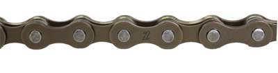 KMC Z30 Bicycle Chain (5-Speed, 1/2 x 3/32-Inch, 116L, Brown)