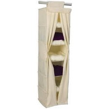 Household Essentials 01812 Six-Shelf Canvas Sweater Organizer