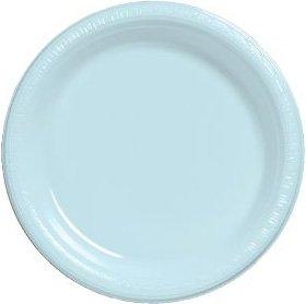 Premium 10-inch Plastic Plates, Pastel Blue