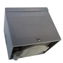 Generac 6339 20-Amp 125/250V Raintight Power Inlet Box With Spring-Loaded Flip Lid