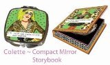 Luckie Street Mirbgcolette Bad Girl Couture Compact Travel Mirror Colette