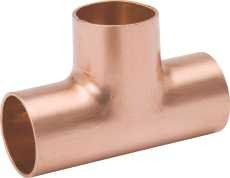 National Brand Alternative 331045 Copper Tee .25 In. X .25 In. X 1 In. - Pack Of 5