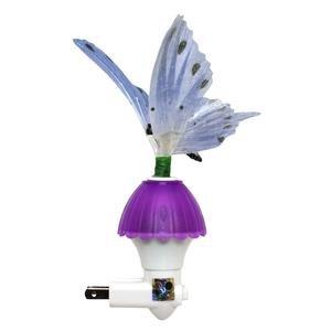 Creative Motion 80323 - Purple Butterfly Fiber Optic Night Light (PURPLE FIBER BUTTERFLY)