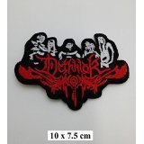 Dethklok Punk Rock Heavy Metal Music Band Logo Patch Iron Man aufgenähtes Wandleuchten Badge Sign Kostüm Gift