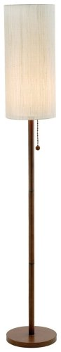 Adesso Hamptons Floor Lamp, Walnut