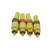 Free-Soldering AV Connector - Golden (4PCS) Golden