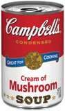 Campbell's Cream Of Mushroom Soup 10.5 ounce Cans (Pack of 4) (Campbell Cream Of Mushroom compare prices)