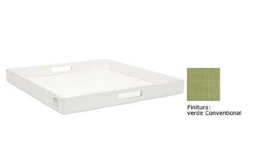 Vassoio verde finitura Conventional art 8043