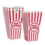 Plastic Popcorn Containers - Set of 2