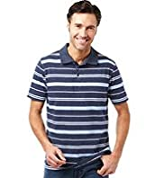 XXXL Short Sleeve Varied Feeder Striped Polo Shirt