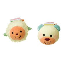 Infantino Wrist Rattles - Lamb and Bear - 1