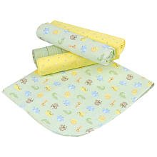 Gerber 5 Pack Receiving Blanket ~ Safari ~ Green