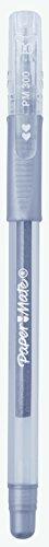 Paper Mate 300 - Juego de bolígrafos de tinta de gel (2 unidades), color dorado y plateado