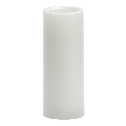 Candle Impressions CAT64800WH01 8-Inch Smooth Flameless Candle with Vanilla Fragrance, White