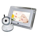 "2.4G Wireless 7"" Tft Lcd Display Baby Safety Monitor Set With Night Vision/Two-Way Intercom/Music Playing (White) front-329922"