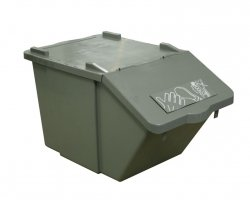 TTS 45 Ltr Recycling Box, Stackable, grey
