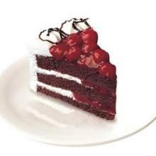 Sara Lee Round Black Forest Whipped Cream Layer Cake, 8 inch -- 6 per case.