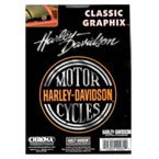 Harley Davidson - Classic Graphix Chrome Decals by Harley Davidson H99062