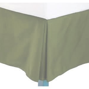 "Queen Size Solid Bed Skirt With 14"" Drop. Sage Green"