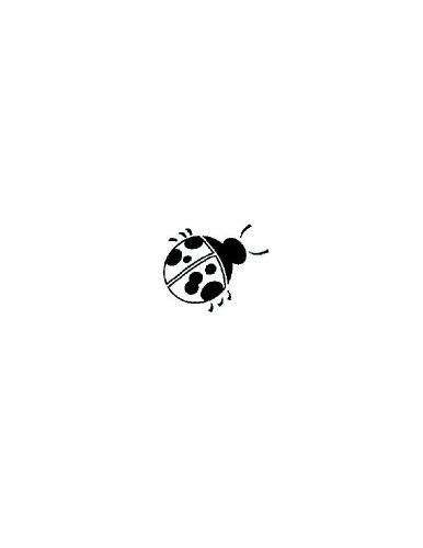 Lady Bug Clip Art Insect Silhouette - Peel & Stick Sticker - Vinyl Wall Art Design Discounted Sale Item Size : 20 Inches X 20 Inches - 22 Colors Available front-461120