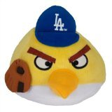 MLB Los Angeles Dodgers Angry Bird Plush Toy, Small, Yellow - 1