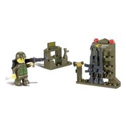 Sluban Militär Waffenkammer 40 Teile Bausatz, Sluban Landforce 2 Serie, kompatibel zu anderen Bausteinherstellern