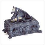 Medieval Armored Dragon Box Trinket Celtic Storage