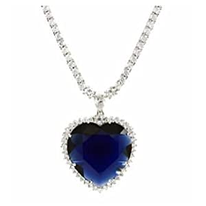 TITANIC HEART NECKLACE-17""