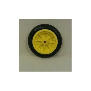 "12""wheelbarrow Solid Wheel YELLOW/replacement for 14""pneumatic No More Punctures (Made In Uk)"