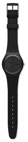 Swatch Originals Black Rebel Silicone Strap Black Dial Men's watch #SUOB702