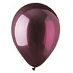 "CTI Industries 100 Count Crystal Burgundy Latex Balloons, 12"", Multicolor"