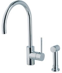 Rohl LS457L-APC-2 1281Apc Faucet with Side Spray and Metal Lever Handle, Polished Chrome