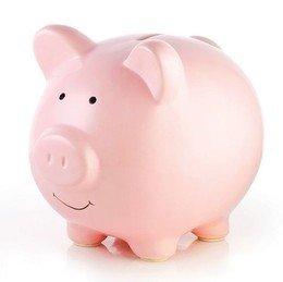 Pearhead Ceramic Piggy Bank, Pink