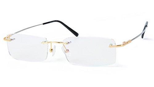 Agstum Titanium Alloy Flexible Rimless Frame Prescription ...