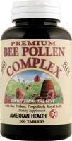 American Health Premium Bee Pollen Complex 100 Tablets