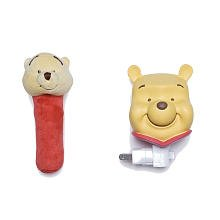 Neutral Pooh Night Light And Rattle Gift Set back-972671