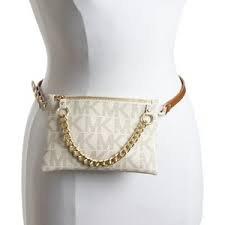 MICHAEL Michael KorsMichael Kors MK Signature Fanny Pack Belt Bag Vanilla Large