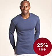 Cotton Blend Long Sleeve Thermal Vest