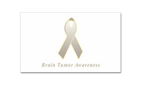 Brain Tumor Awareness Rectangular Sticker
