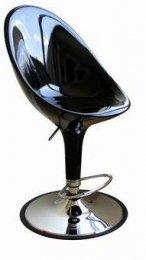 Curio High-back Adjustable Swivel Barstool Seat Color: Black