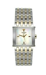 TISSOT Watch:Tissot Six-T PVD Square Mother-of-Pearl Dial Women's Watch #T02.2.181.85 Images