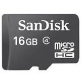SanDisk 16 GB microSDHC Flash Memory Card SDSDQ-016G (Bulk Packaging) - Class 4 (Mini Sd Card 16gb compare prices)