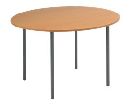 Oak 1200mm Circular Office Table