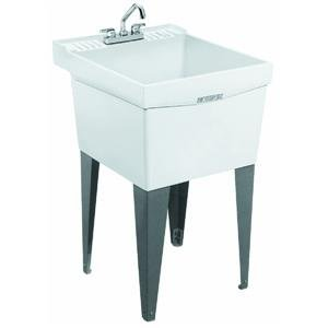 Utility Sink: SINGLE LAUNDRY TUB (Mustee, E. L. 19F)