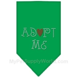 Dog Supplies Adopt Me Rhinestone Bandana Emerald Green Large