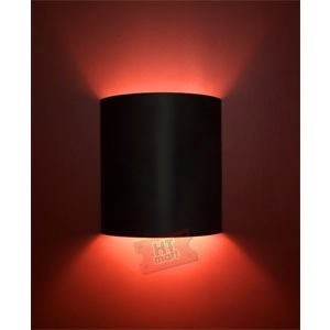 Wall Sconces Home Theater : Plain Black Home Theater Wall Sconce - - Amazon.com