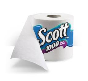 Scott 1000 toilet tissue is 1000 sheets of septic safe toilet paper in every toilet paper roll