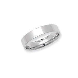 Unique Wishlist 9ct White Gold 4mm Mediumweight Flat Court Wedding Band