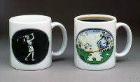 Golf Mug, Grip It & Rip It Female Golfer Mug, Color Changing Mug
